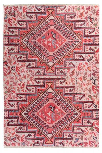 Design Teppich Ela hochwertig und modern Vintage Teppich multi