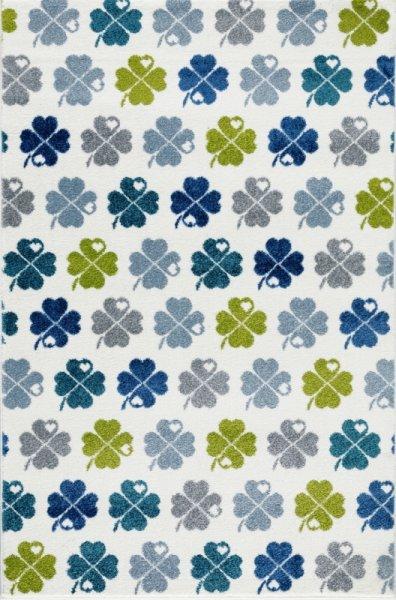 Kinderteppich Kleeblätter Bunt