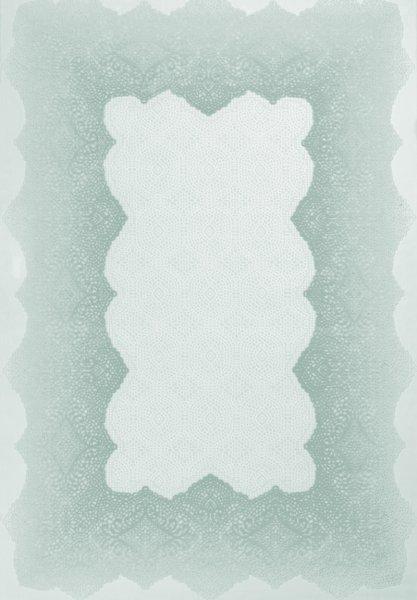 Retro Teppich Pastell Türkis Weiß