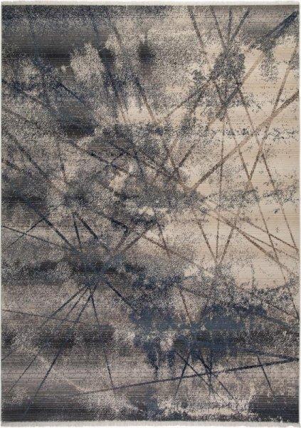 Designer Teppich Grau Beige