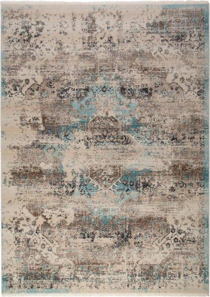 Teppich Vintage Style Beige Türkis