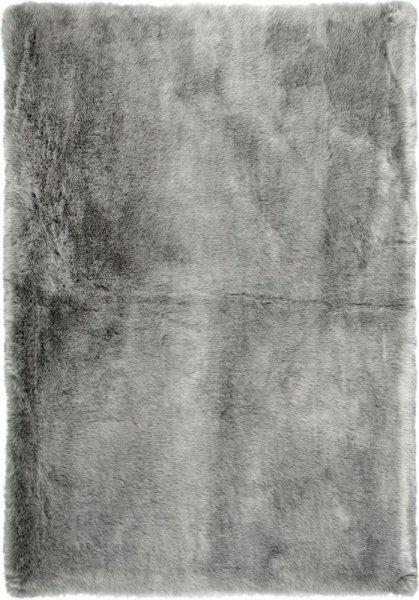 Fellteppich Silber Grau