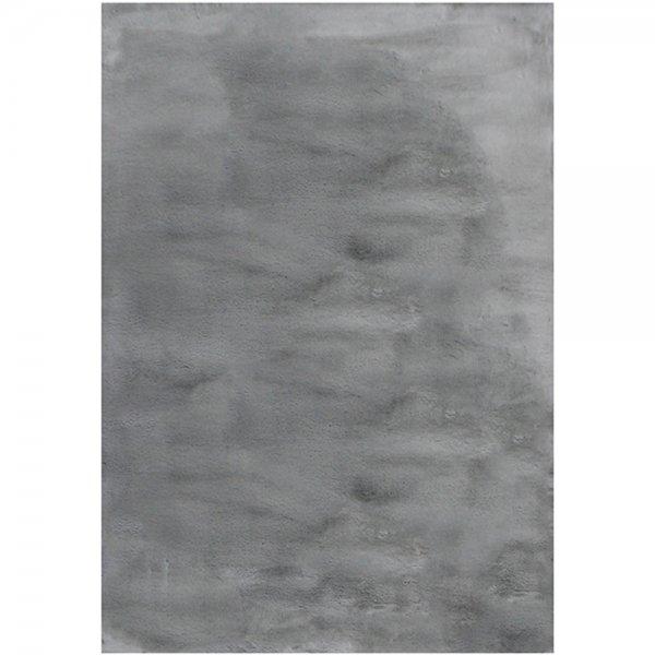 Fellteppich Weich Antirutsch Grau