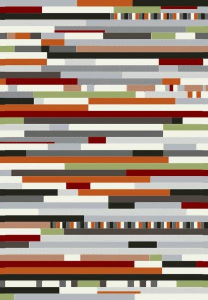Teppich Streifen Design Bunt