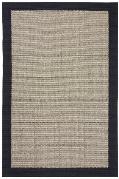 Teppich Dänisches Design Flach gewebt Schwarz