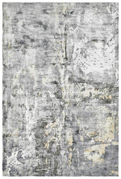 Designer Teppich ETERNITY Handgefertigt Sand Grau