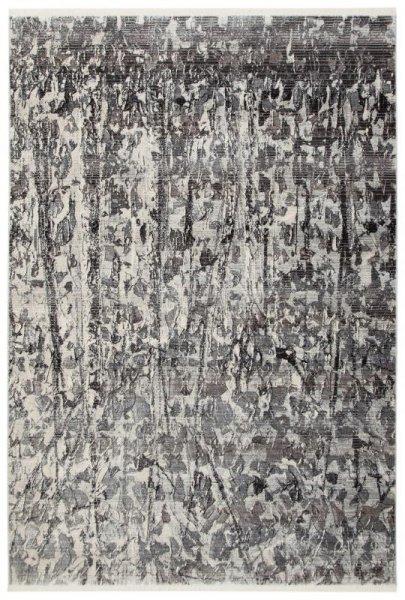 Design Teppich Silber Grau