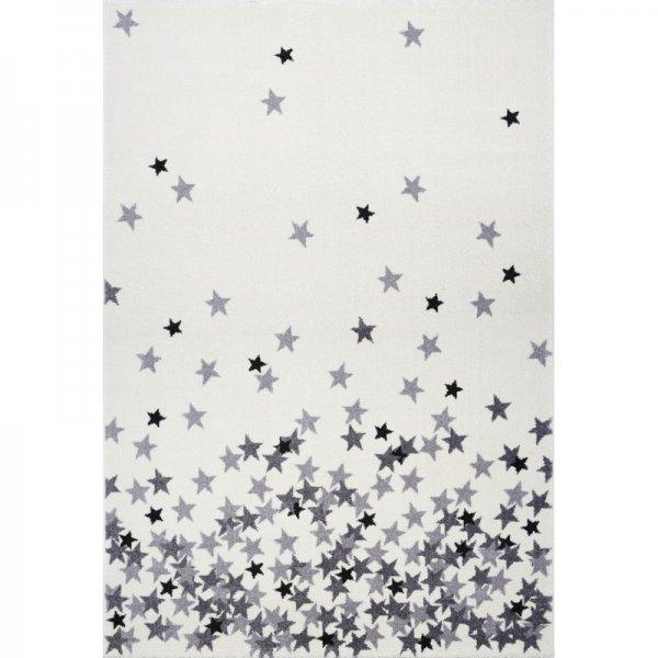 Sterne-Teppich FINN Weiß Grau