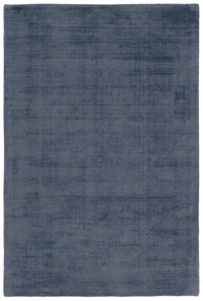 Teppich Used Look Handgewebt Denim-Blau