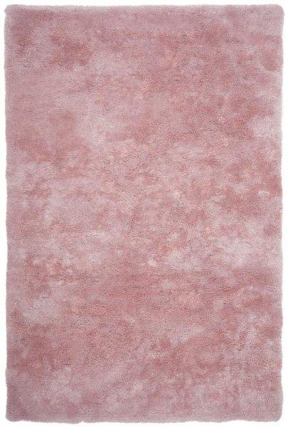 Hochflorteppich Handgetuftet Pastell Rosa