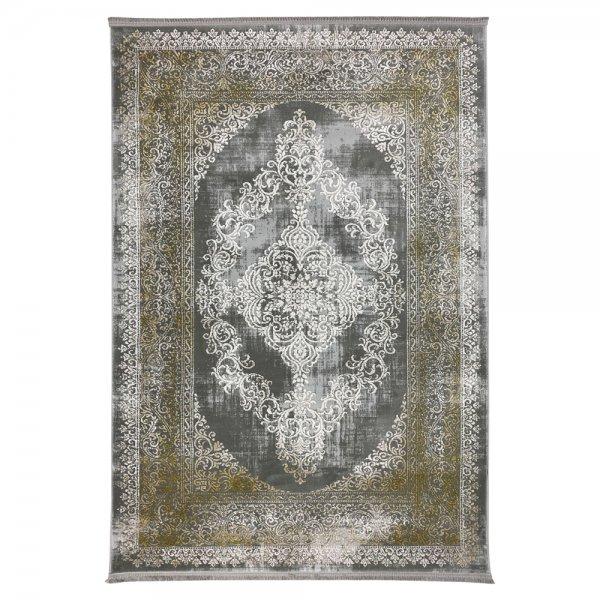 Schimmernd Orient Vintage Teppich Gold Grau