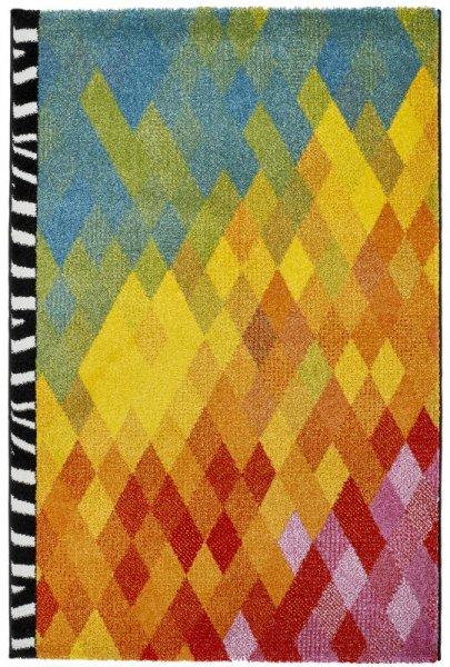 Teppich Rauten Design Mehrfarbig