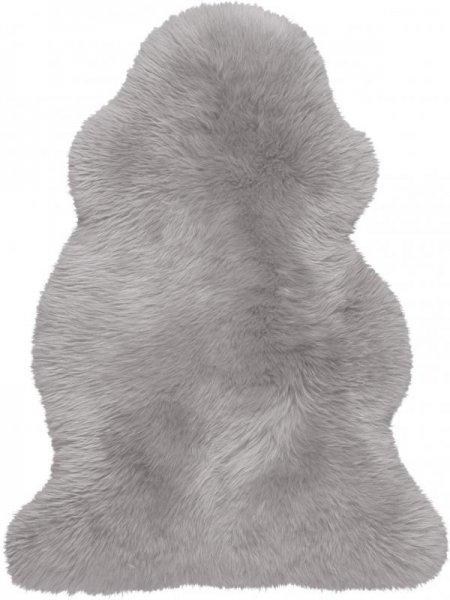 Schaffell Teppich Grau