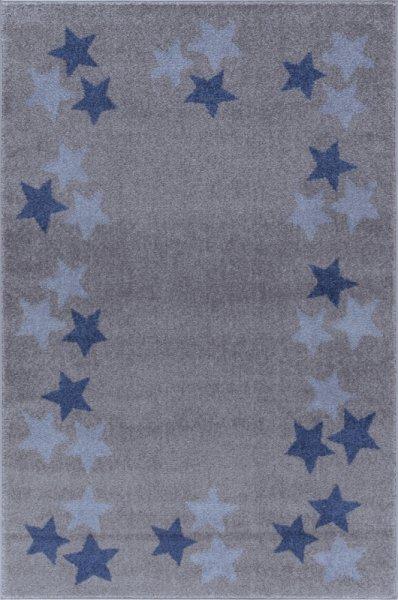 Sterne-Teppich MARIE Grau Blau