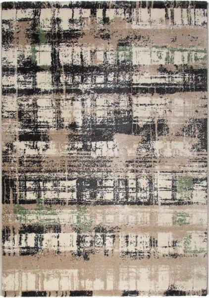 Design Teppich MADRID Braun Beige Grün