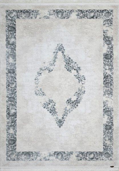 Teppich orientalisch Used Look Grau Weiß
