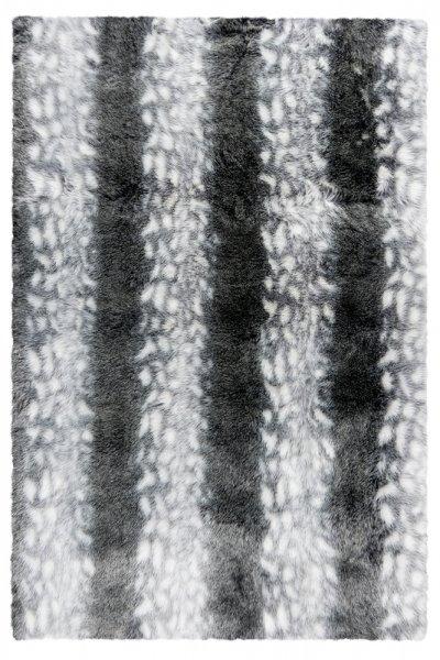 Modernes Desingfell Rubine Grau