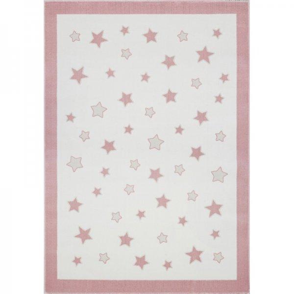 Sterne-Teppich MIA Rosa Weiß