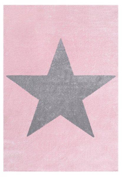 Stern Teppich MILAN Pink Grau