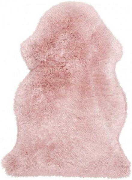 Schaffell Teppich Rosa