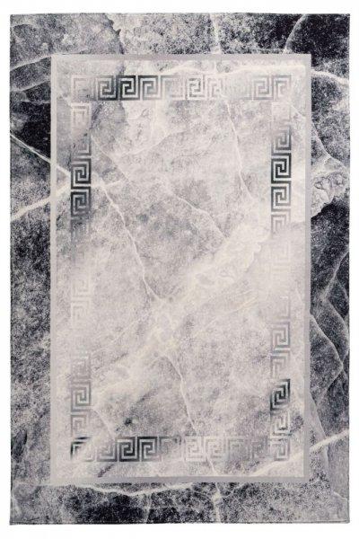 Designteppich Pia grau rechteckig Moderner Teppich hochwertig Medusa Muster
