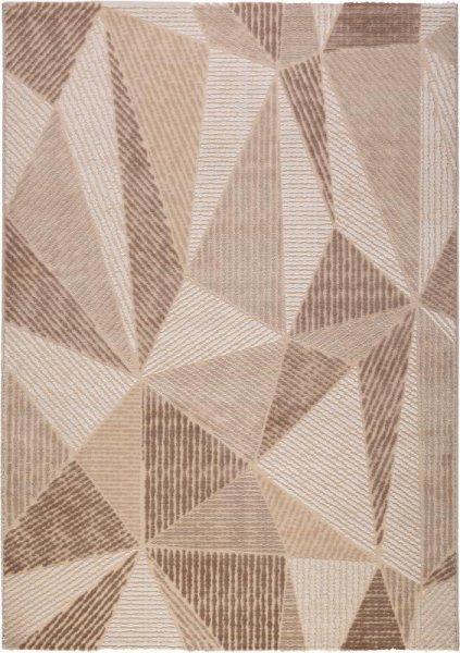 Teppich Dreieck Muster Taupe