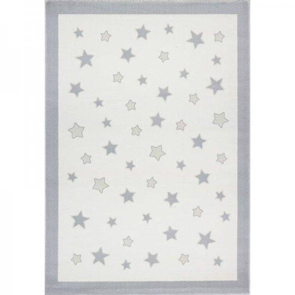 Sterne-Teppich MIA Weiß Grau
