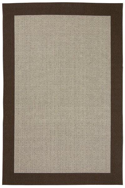 Teppich Nordisch Flachgewebe Braun Beige
