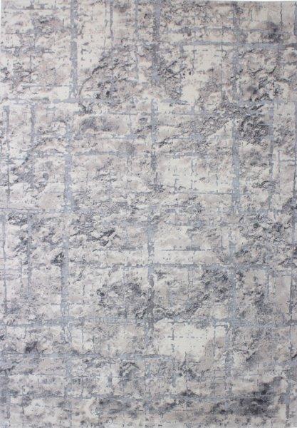 Teppich VINCENT Used Design Grau Beige
