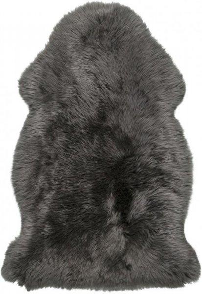 Schaffell Teppich Dunkelgrau