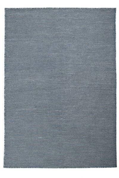 Wollteppich VISBY Handgewebt Blau