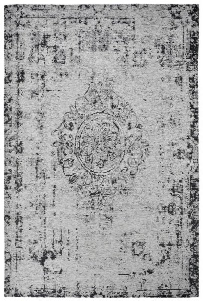 Vintage Teppich Silber Grau