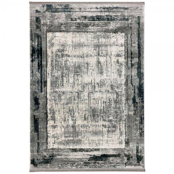 Vintage Teppich Muster Blau Grau