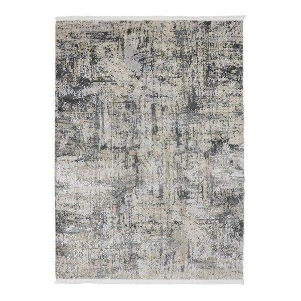 Hochwertig Glanzeffekt Teppich Silber