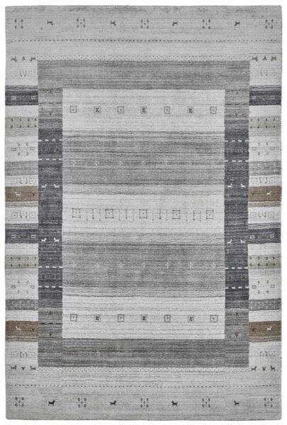 Teppich MYSTERY Handgewebt Grau Taupe