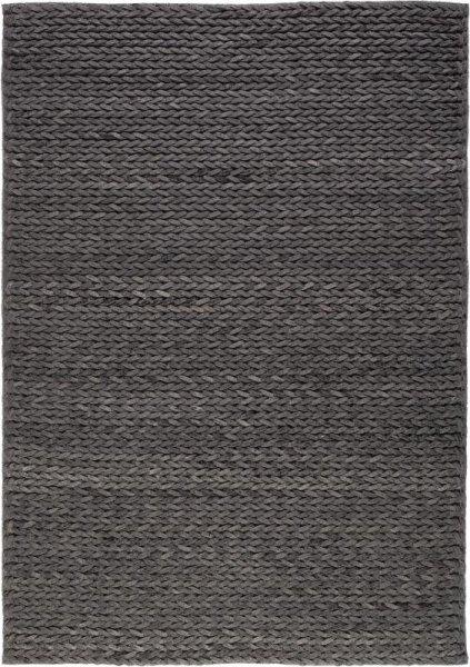 Wollfilz Teppich Handvernäht Anthrazit