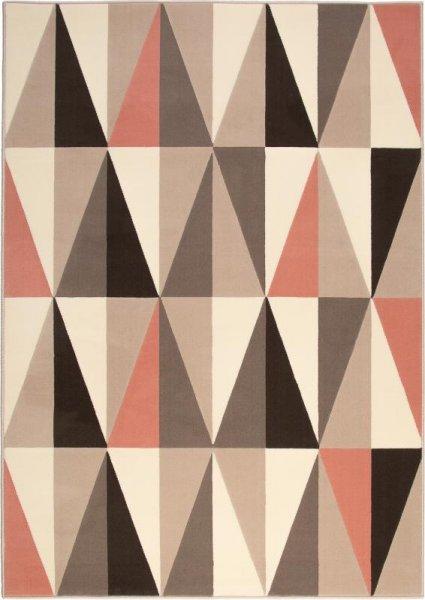 Teppich Dreieck Design Taupe Beige Altrosa