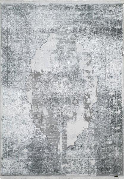 Barock Teppich Used Design Grau