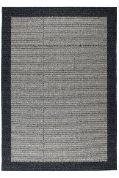 Teppich Dänisches Design Flachgewebe Anthrazit Hellgrau