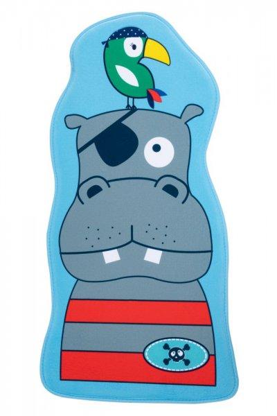 Kinderteppich Hippo Polyester Kinderzimmerteppich Tiermotiv