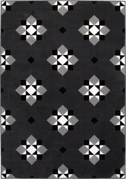 Teppich Geometrisches Muster Dunkelgrau