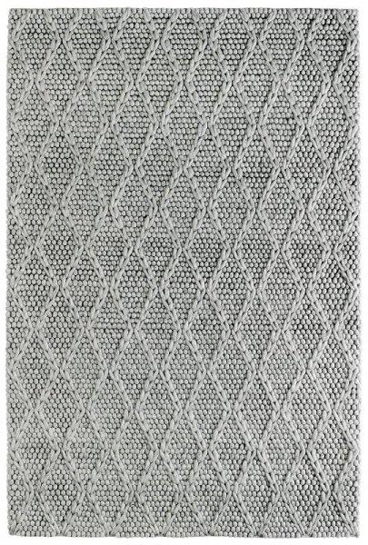 Teppich SCARLETT Handgefertigt Silber Grau