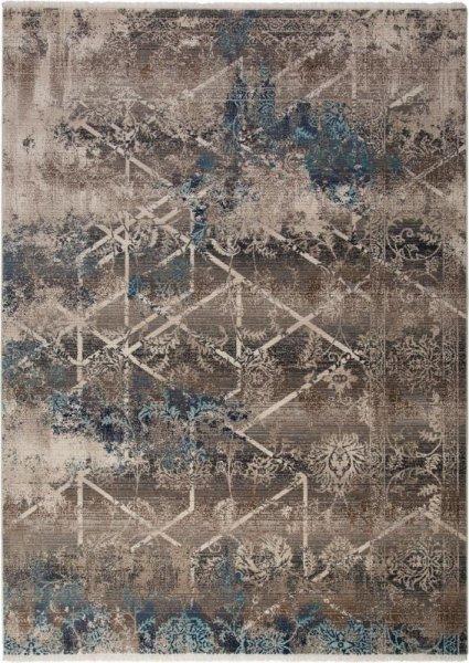 Teppich Vintage Style Grau Blau