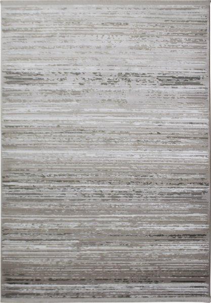 Teppich Used Design Streifen Grau