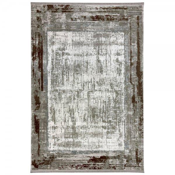 Vintage Teppich Muster Grau Kupfer