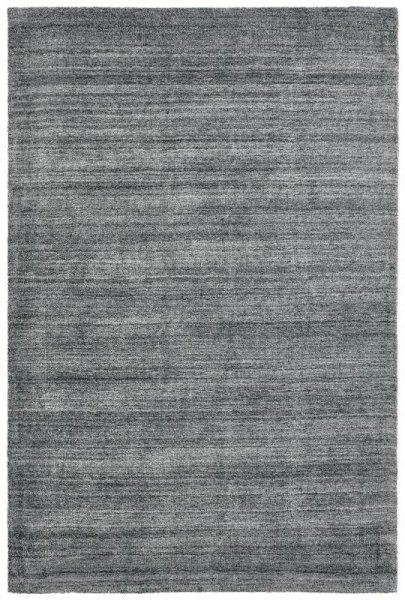 Teppich aus Wolle & Viskose Handarbeit Silber Grau