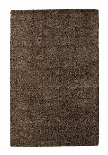 Hochflor Teppich FINN Dunkelbraun
