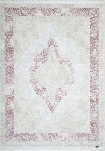 Teppich orientalisch Used Look Pastell Pink Weiß
