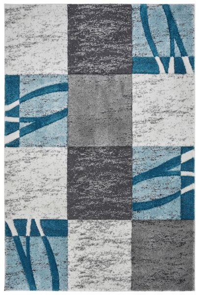 Design Teppich Belina hochwertig und modern ocean aus Polypropylen