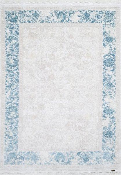 Vintage Teppich ARABELLA Blau Weiß Creme